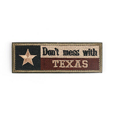 Don'T Mess With Texas Tx State Flag USA Army Tactical Forest Abzeichen Aufnäher.