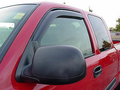 In-Channel 2 piece Vent Visors for a Dodge Ram Quad Cab (4 Door) 2002 - 2008