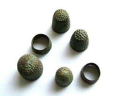 Group of Medieval/Post Medieval Bronze Thimbles – Usable Conditions