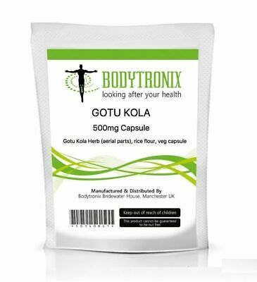 Gotu Kola Extract Vegetarian Capsules - Bodygenix UK Made - Free 24 hr dispatch