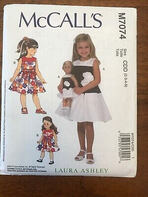 a2f401adb121 MCCALLS PATTERN M7074 Laura Ashley Girls Dress & Dolls Dress wedding ...