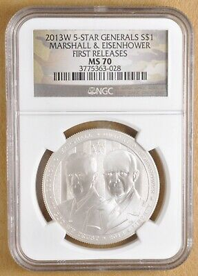 2013-P US 5-Star Generals Commem Proof Silver $1 Early Releases NGC PF70