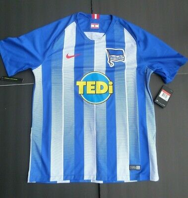 7a4709159 NIKE MENS HERTHA BSC Soccer Jersey 17 18 Away Small NWT Authentic ...