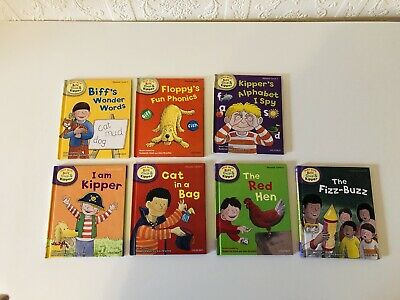 Read with Biff, Chip & Kipper. Phonics Level 1 & 2 Set of 7 Books Oxford in VGC