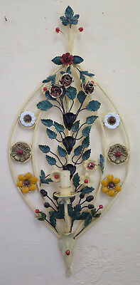 Wall Light Classic Wrought Iron Hand Made Vintage with Flowers Ch-17