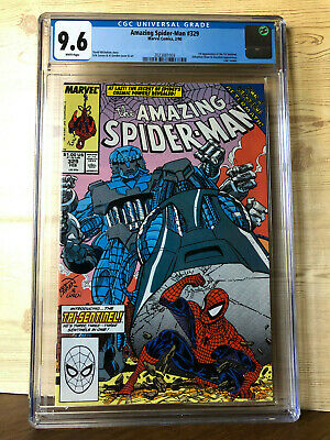 The Amazing Spider-Man #329 (Feb 1990, Marvel) CGC 9.6 1st app Tri-Sentinel