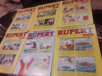 Rupert comic Weekly 6 Issues From 1984