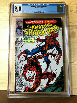 The Amazing Spider-Man #361 (Apr 1992, Marvel) CGC 9.0 1st full Carnage