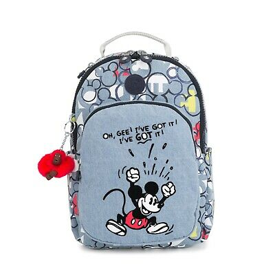 e1d8bd7c9aa GENUINE KIPLING SEOUL GO s school laptop backpack DISNEY PRINT (BNWT ...