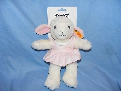 Steiff New Baby Girl Sweet Dreams Lamb Pink Soft Body Gift Present Christening