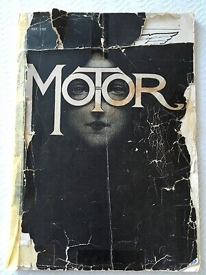 Rare Antique 1907 Motor Magazine Early Automotive NJ Road Map Great Ads! #H