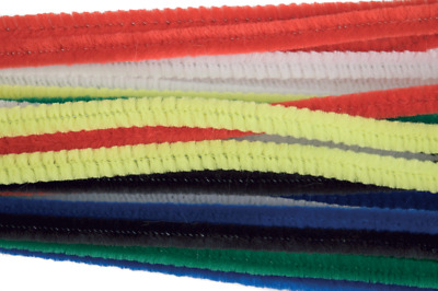 Craft Factory CF120 | Assorted Chenille Mini Pipe Cleaners | 4mm x 15cm | 30pk