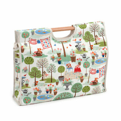HobbyGift HGCB359 | Crafty Cats in the Garden Craft Bag | 11 x 42 x 30cm