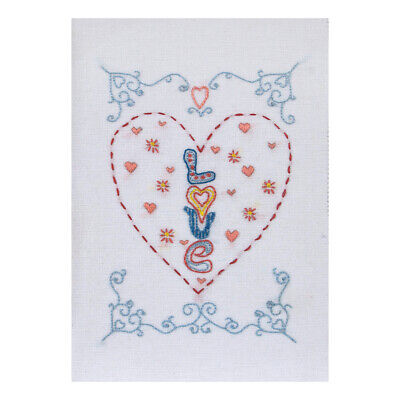 ANCHOR | Embroidery Kit: Valentine Love Heart - Gift Card | RDK50