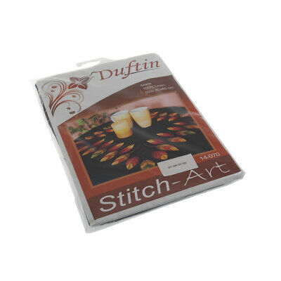 Embroidery Kit: Tablecloth: Leaves