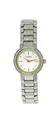 Caravelle by Bulova 43L110 Women's Round Silver Tone Analog Clear Crystal Watch
