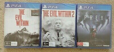 New The Evil Within & The Evil Within 2 & Prey Playstation 4 PS4 Games Bundle
