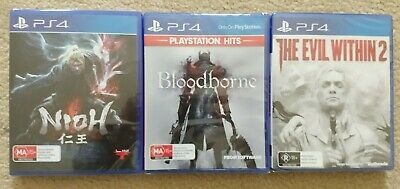 New Nioh & Bloodborne & The Evil Within 2 Playstation 4 PS4 Games Bundle