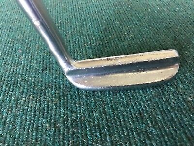 "MacGregor Tommy Armour IMG Iron Master Putter 35"" ""A"" Sight Rail Leather Grip"