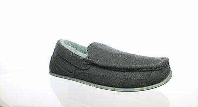 899419881f56 Deer Stags Mens Spun Dark Grey Moccasin Slippers Size 9 (E)
