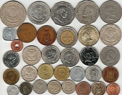 33 different world coins from PHILIPPINES some scarce