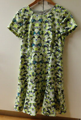Pretty Yellow Floral Print Dress from J. Crew - Size 8
