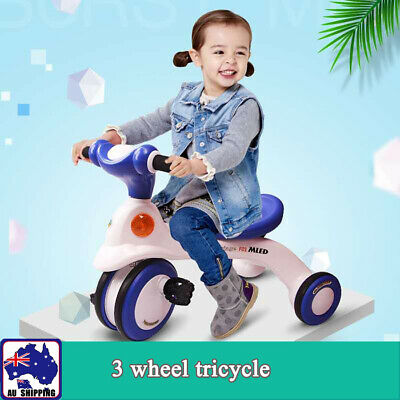 3 Wheel Bike Bicycle Tricycle Trike Push Handle Kid Children Toddler Toy BBB0284