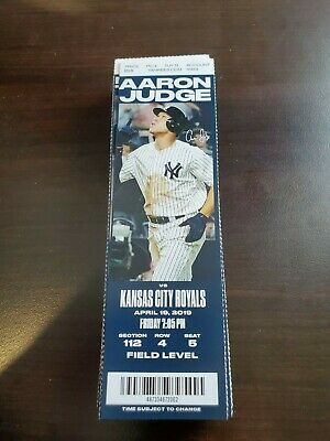 New York Yankees Kansas City Royals MINT Season Ticket 4/19/19 2019 MLB Stub