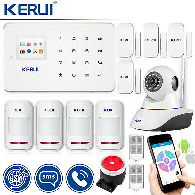 KERUI G18 APP Control Wireless GSM SMS Home Security Alarm System 720P IP Camera