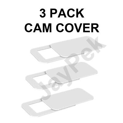 White Webcam Cover 3 PACK Thin Camera Sticker Laptop Mobile Tablet Privacy