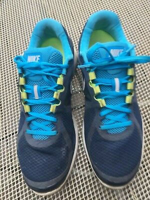 3dbfe1f08a0e Nike Blue Dynamic Support Lunar Eclipse 2 Athletic Fitsole Shoes Mens size  11