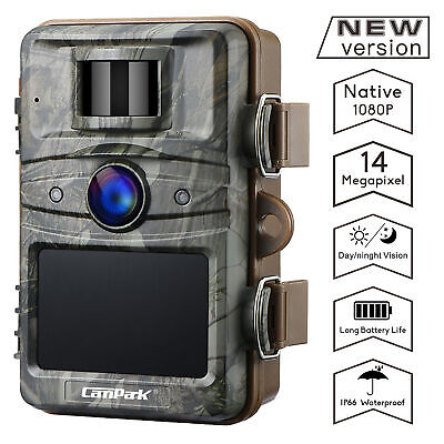 Campark Trail Game Camera No Glow Night Vision 14MP 1080P Outdoor Hunting Cam AU