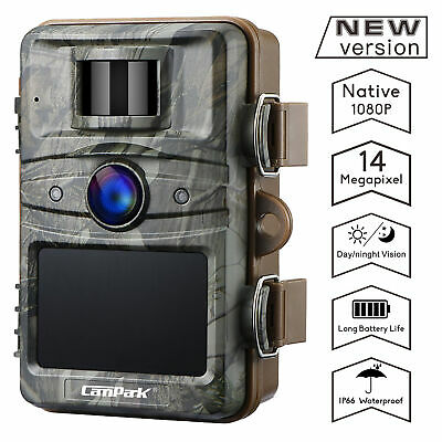 Campark Trail Wildgame Camera 14MP 1080P HD Hunting Cams Night Vision Waterproof