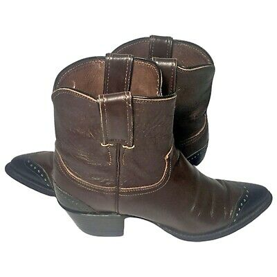 JUSTIN Brown  Leather Western Cowboy Cowgirl Boots Women's Size 6.5