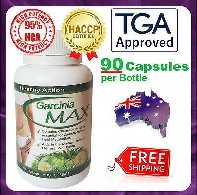 Garcinia Cambogia Weight Loss 95% HCA High Potency 90 Capsules TGA Approved