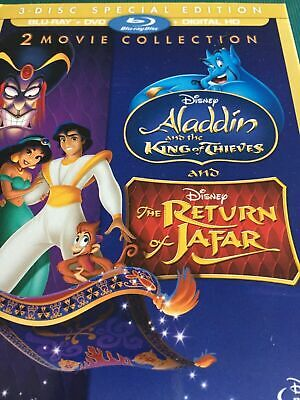 Aladdin 2 and 3 King of Thieves Return Jafar DVD ONLY