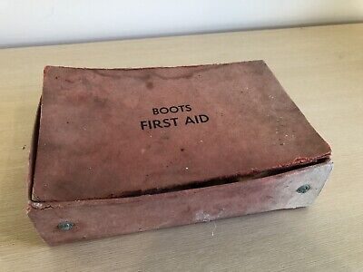 "VINTAGE ANTIQUE FIRST AID KIT 1930s ""BOOTS"" BRAND (ESTATE FIND)"