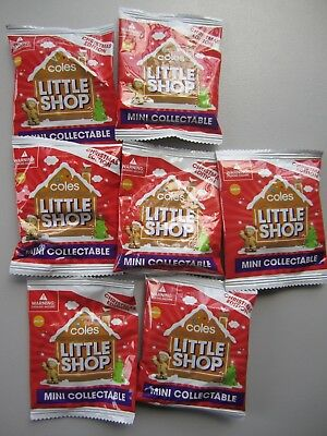 NEW 7x Coles Little Shop Mini Collectable Christmas Edition