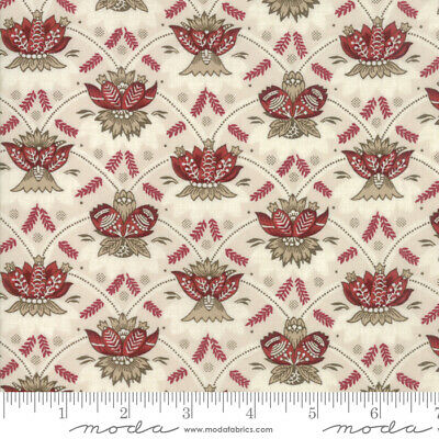 MODA Fabric ~ VIVE LA FRANCE ~ French General by the 1//2 yd 13836 11 Rouge