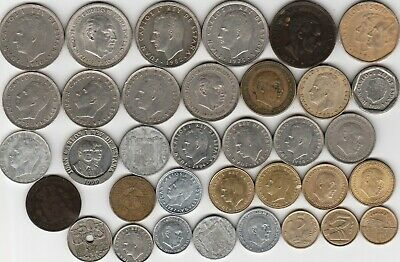35 different world coins from SPAIN some scarce