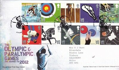2009 Olympic & Paralympic Games Journey to 2012 Badminton Strike Excellent Cond