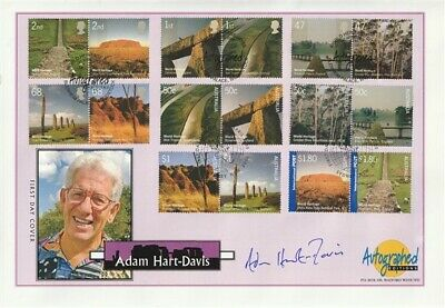 2005 World Heritage Sites Hand Signed Adam Hart-Davis First Day Cover Shs