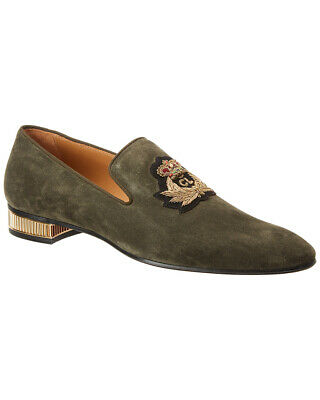 223621ca132 100% AUTH NEW Men Christian Louboutin Roadie Chelsea Gray Suede ...