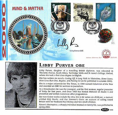 5 September 2000 Mind And Matter Benham Fdc Hand Signed By Libby Purves
