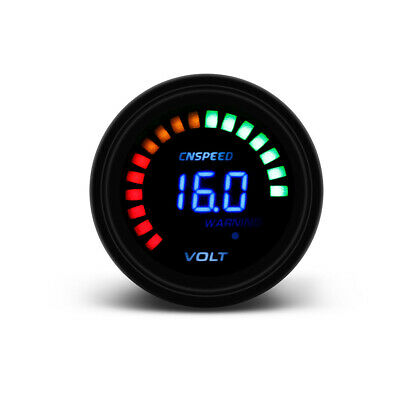 2'' 52mm Digital Analog LED Voltmeter for 12V Auto Car Voltage Gauge Volt Meter