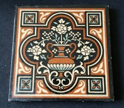 Mintons Tile Urn and Flowers