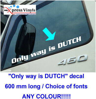 curved truck graphic ANY TEXT volvo scania daf custom text screen decal