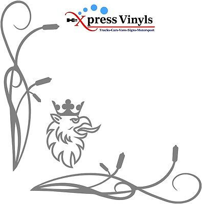 Scania truck cab window decals x 2 Griffin graphics stickers Vabis V8