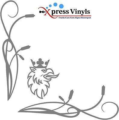 Scania window decals x 2 Griffin style truck graphics stickers Vabis V8