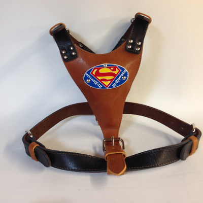 Beautiful Hand Made Extra Large Two Tone Heavy Duty Leather Dog Harness